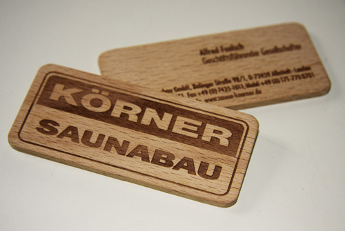 Business Card for Korner Saunabau
