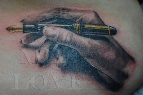 Pen in Hand Tattoo