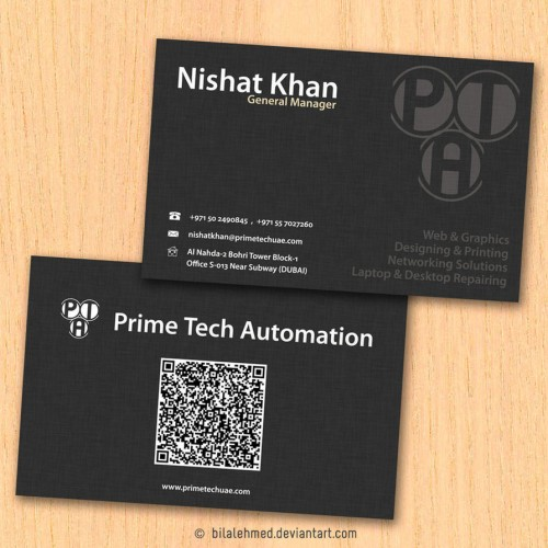 Textured Paper Business Card