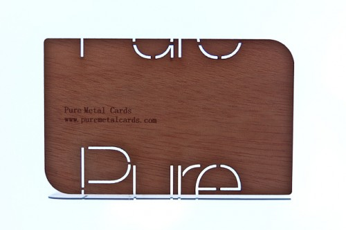 Wood business card by Pure Metal Cards