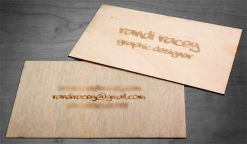 Wooden Business Card by RaceyGraphics
