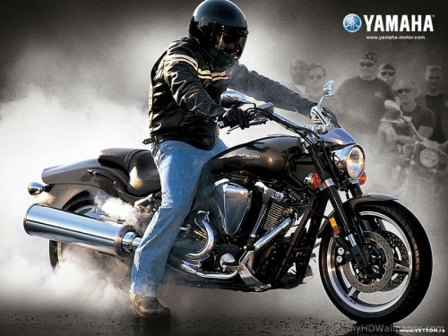 Yamaha Bike Burnout Wallpaper