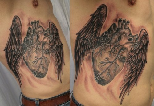 realistic heart wings ready