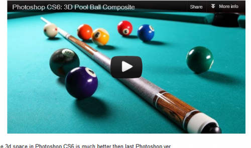 3D Pool Ball Composite in Photoshop CS6