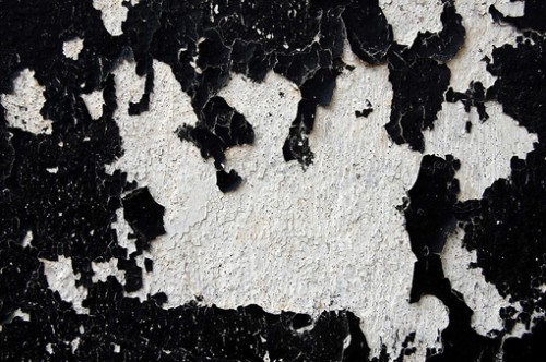 Black paint and white texture
