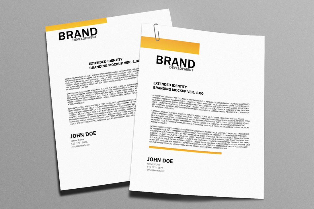 22 cool examples of professional letterhead designs