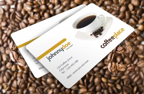 Coffee Cup Business Card FREE