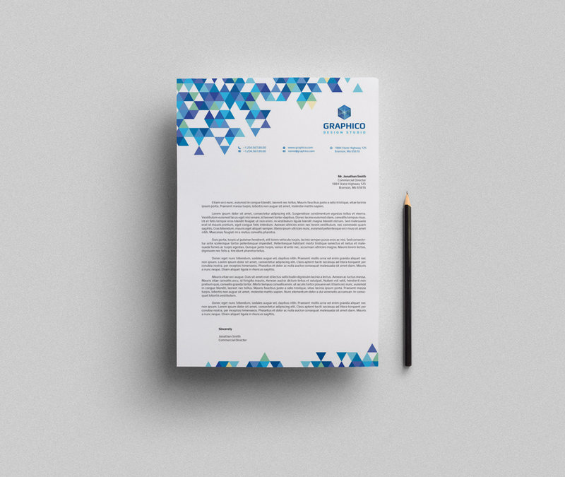 A Creative Corporate Letterhead For Dealing Business With: 22 Cool Examples Of Professional Letterhead Designs