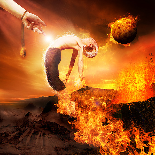 Create the Firey Photo Manipulation 'Satan's Judgement'