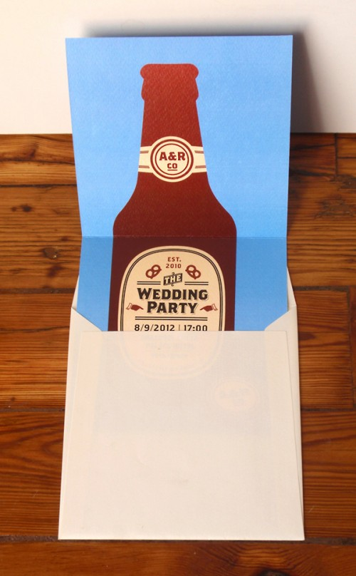 Invitation for a Beer Loving Couple
