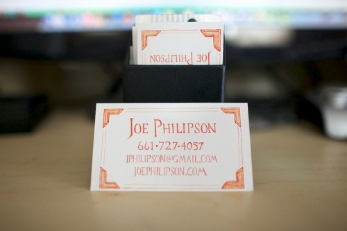 New Business Cards by JoePhilipson