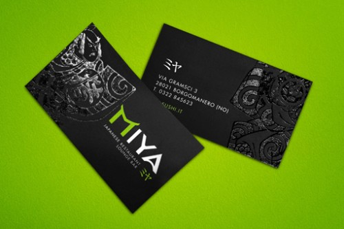 Serigraphed Business Card