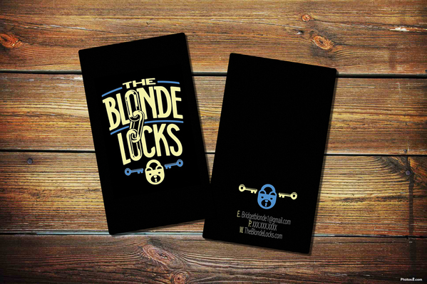 The Blonde Locks Business Cards