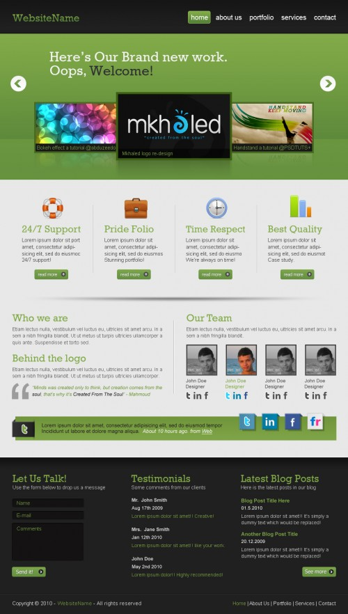 Create a Professional Web 2.0 Layout