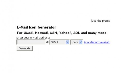 Email Icon Generator