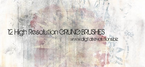 12 Free Grunge Photoshop Brushes