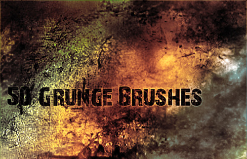 50 Grunge Brushes for Download