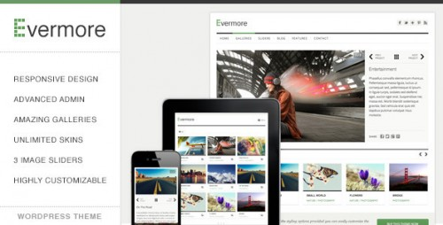 Evermore - Responsive WordPress Theme