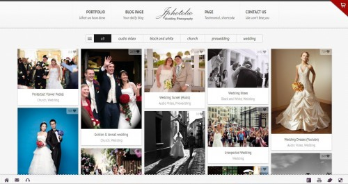 JPhotolio: Responsive Wedding  WP Theme
