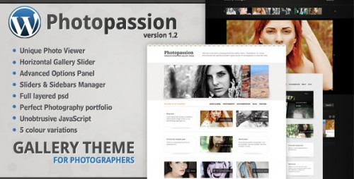 Photopassion - WordPress Gallery Theme