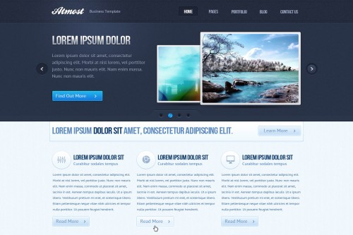 Atmost PSD Web Template