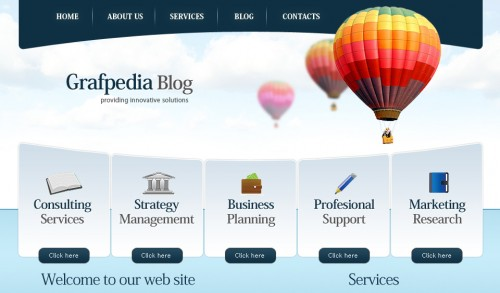 Trendy Business & Finance Layout