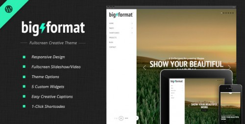 BigFormat – Responsive Fullscreen WP Theme
