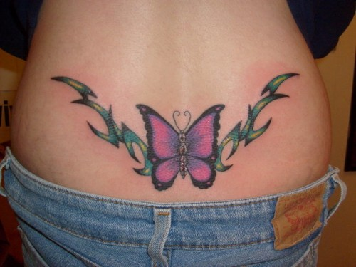 Butterfly and Tribal Vines