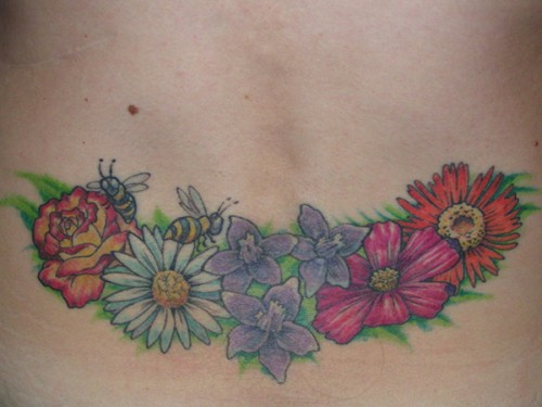 Cool Lower Back Girl Tattoo