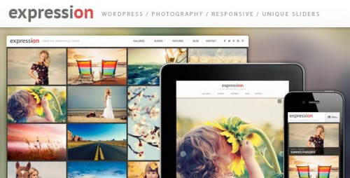 Expression Responsive Gallery WP Theme