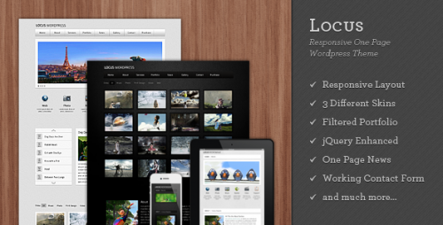 Locus – Responsive One Page  WordPress Theme