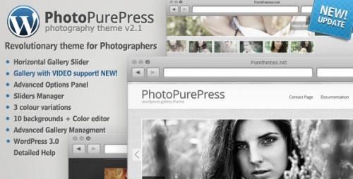 PhotoPurePress - WordPress Photo Gallery