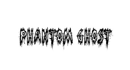 Phantom Ghost Font