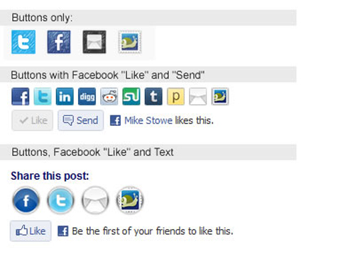 Trackable Social Share Icons