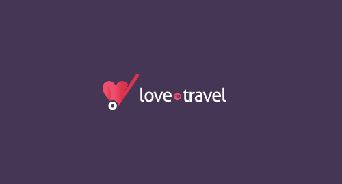 LoveToTravel Logo Design