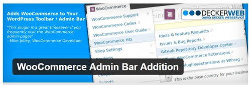 WooCommerce Admin Bar Addition