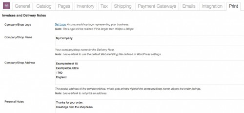 WooCommerce Print Invoices & Delivery Notes