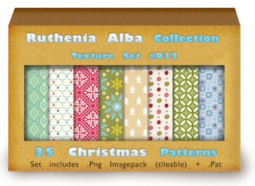 35 Free Christmas Patterns Set