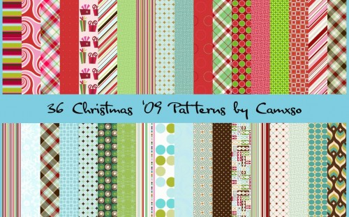 36 Christmas Seamless PS Patterns