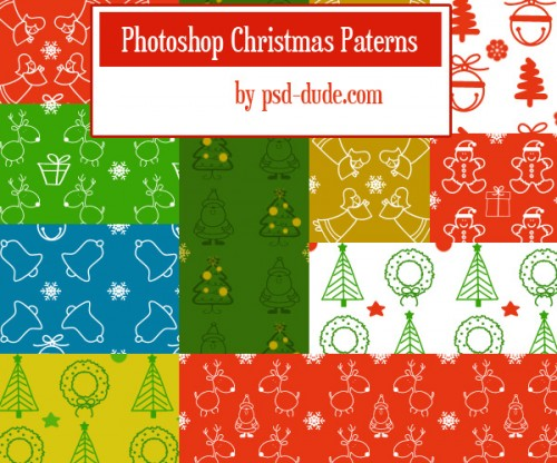 Cool Free Photoshop Christmas Patterns