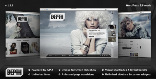 Depth - Full-Screen AJAX Portfolio WP Theme