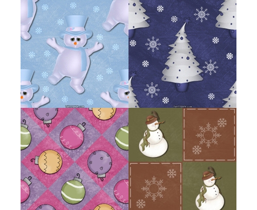 Elegant Christmas Pattern Set