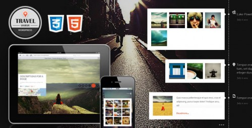 Travel Fullscreen Responsive Ajax WP Theme