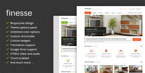 Finesse - Responsive Business WordPress Theme