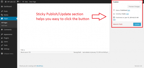 Floating Publish Button