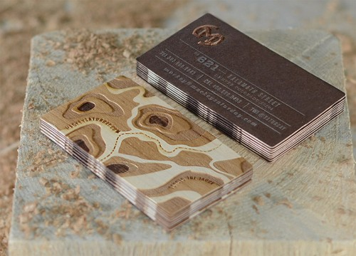 Awesome Wood Veneer Business Card