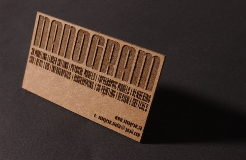 Chipboard Business Card
