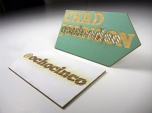Cool Laser Cut Business Card Idea 2014