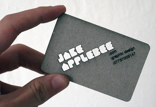 Fantastic Laser-Cut Business Card Design