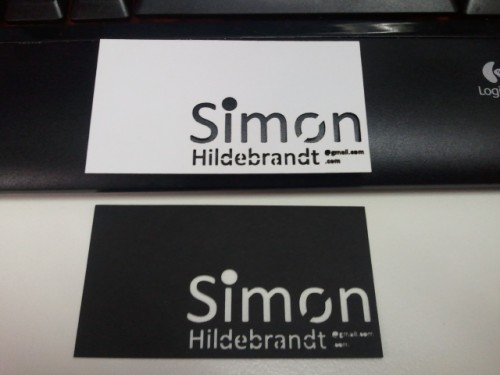 Laser Cut Business  Card - Simon